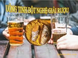 Giản độc Gan, thận do bia rượu từ tinh bột nghệ