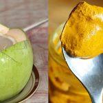 Hết đau dạ dày nhờ uống tinh bột nghệ với nước dừa